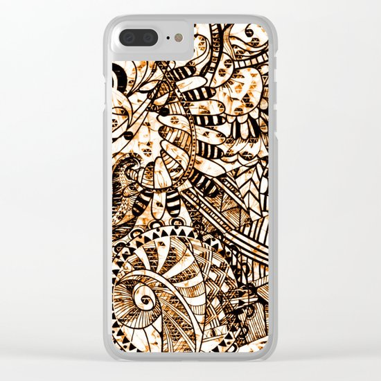 Zentangle Mix 1216 Clear iPhone Case