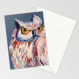 Subtle Owl Stationery Cards