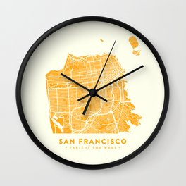 San Francisco City Map 03 Wall Clock