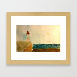 When The End Comes Rolling In Framed Art Print