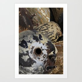 discarded water heaters Art Print