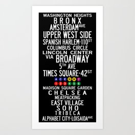 NYC Salsa Art Print