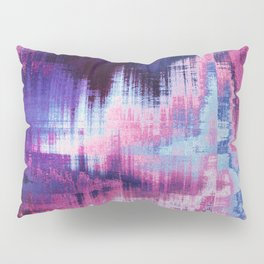 Violet Abstract Glitch effect Pillow Sham
