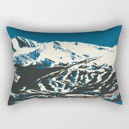Blue Breckenridge Vintage Ski Poster Rectangular Pillow