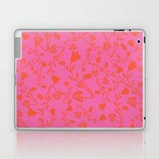 Fuchsia Pink Bright Red Flora Pattern Laptop & iPad Skin