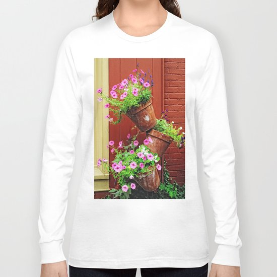 Potted Petunias Long Sleeve T-shirt