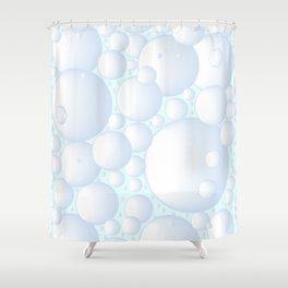 Air Bubbles Shower Curtain