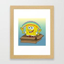la imaginacion de bob Framed Art Print