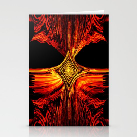 Abstract.Red Flame. Stationery Cards