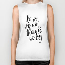 Do Or Do Not There Is No Try,Master Yoda,Yoda Quote,Nursery Decor,Kids Gift,Typography Art,Quote Art Biker Tank