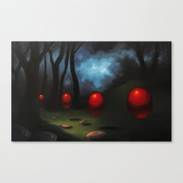 March of the Red Balloons #7 Canvas Print