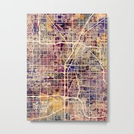 Las Vegas City Street Map Metal Print