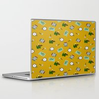 hiking Laptop & iPad Skins featuring Hiking Pattern by DAW Surface Design