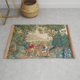 Verdure 18th Century French Tapestry Print Rug