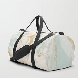Marble - Cream & Blue Duffle Bag