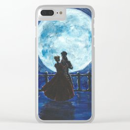 Pirate and Princess Dancing in the Moonlight Clear iPhone Case