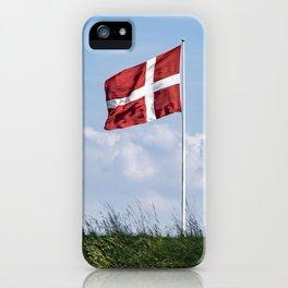 Dannebrog in the wind (Danish national flag) iPhone Case