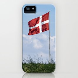 Dannebrog in the wind (Danish national flag) iPhone Case