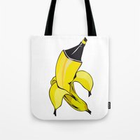 banana Tote Bags featuring Banana  by Gaby Yerden