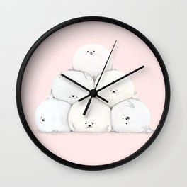 Harp Seal Pups Wall Clock