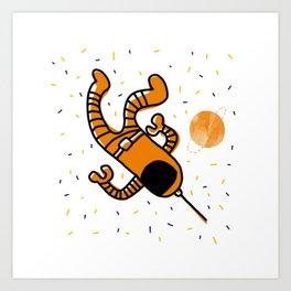 cosmonaut in space Art Print