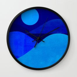 Abstraction_Moonlight Wall Clock