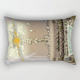 Atomic Vacation at Desert Rock Rectangular Pillow