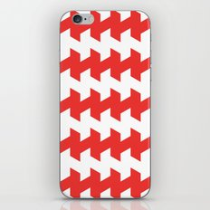 jaggered and staggered in poppy red iPhone & iPod Skin