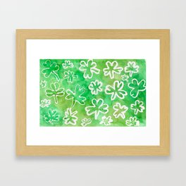 Shamrock Fun Framed Art Print