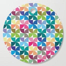 Geometric Pattern 1 (Colorful semicircle) Cutting Board
