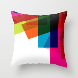 RAINBOW SQUARES Abstract Art Throw Pillow
