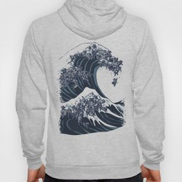 The Great Wave of Black Pug Hoody