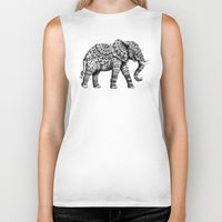 bioworkz Biker Tanks featuring Ornate Elephant 3.0 by BIOWORKZ