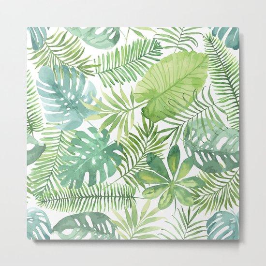 Tropical Branches Pattern 07 Metal Print