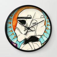 trooper Wall Clocks featuring TROOPER by KMLS