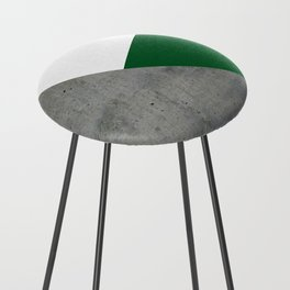 Concrete Festive Green White Counter Stool