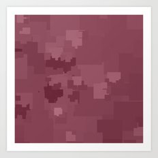 Crushed Berry Square Pixel Color Accent Art Print