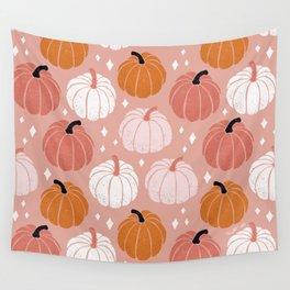 Peachy Pumpkin Wall Tapestry