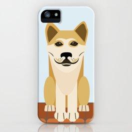 Shiba dog vector iPhone Case