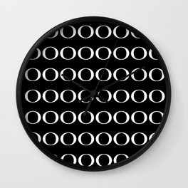OOO ING Black Wall Clock