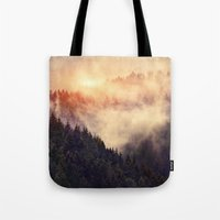 contemporary Tote Bags featuring In My Other World by Tordis Kayma