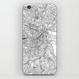 Dublin White Map iPhone Skin
