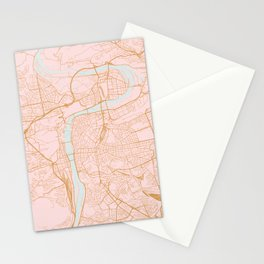 Prague map Stationery Cards