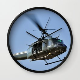 Bell UH-1 Iroquois Helicopter - (Huey) Wall Clock