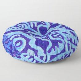 Blue Egyptian Series Patterned Pillow Floor Pillow