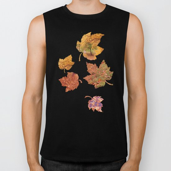 Stairs in the Fall Biker Tank