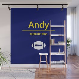 Andy Future Football Player Wall Mural