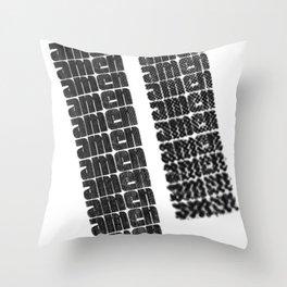 AMEN Throw Pillow