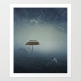 i'm here to protect you Art Print