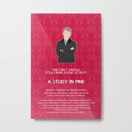 A Study in Pink - John Watson Metal Print